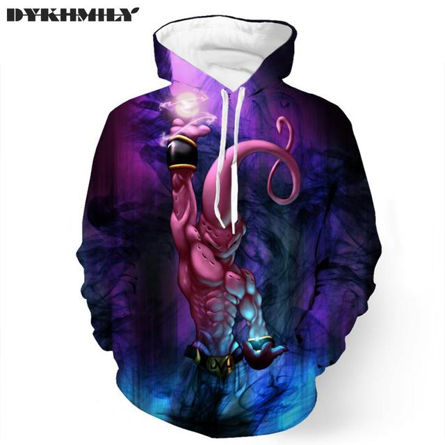 New Super Saiyan Male Sweatshirts Hoodies Pullovers