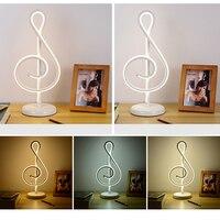 25W Modern Golden Music Note Bedroom LED Desk Lamp Artistic Home Living Room Bedside Decoration Night Light 2color