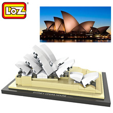 Loz World Famous Architecture Sydney Opera House Mini 3D Model Building Blocks DIY Assembly Bricks Toys for Children(China)