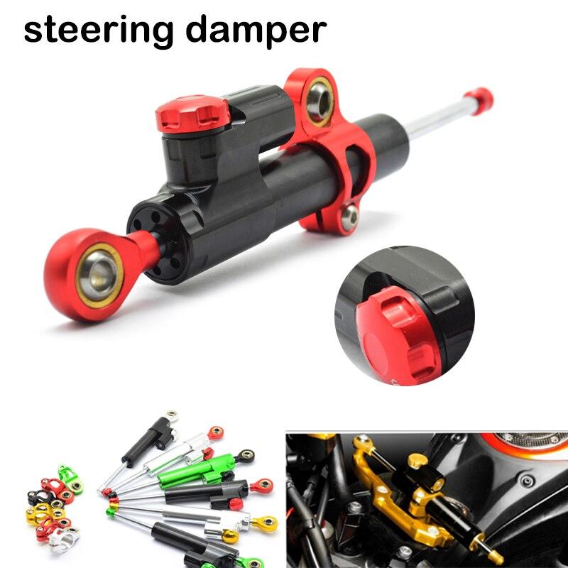 Universal Adjustable Motorcycle Steering Damper Stabilizer Adjustable For BMW F800R YAMAHA MT-125 Honda CB1100 universal new cnc aluminum motorcycle steering damper stabilizer adjustable for bmw k1300s honda st1300 bmw f800gt bmw k1600gtl
