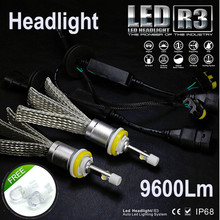 JGAUT R3 9600lm Car LED Headlight XHP50 Kit H1 H3 H4 H7 H9 H11 H13 9005 HB3 9006 HB4 Automobiles Headlamp Fog Lamps White Canbus(China)