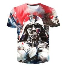 Star War T-shirts 3D Print Cool Hip Hop Men 's Top Tees Harajuku Punk Red Darth Face Vader T-Shirt Funny Skull Design Patten