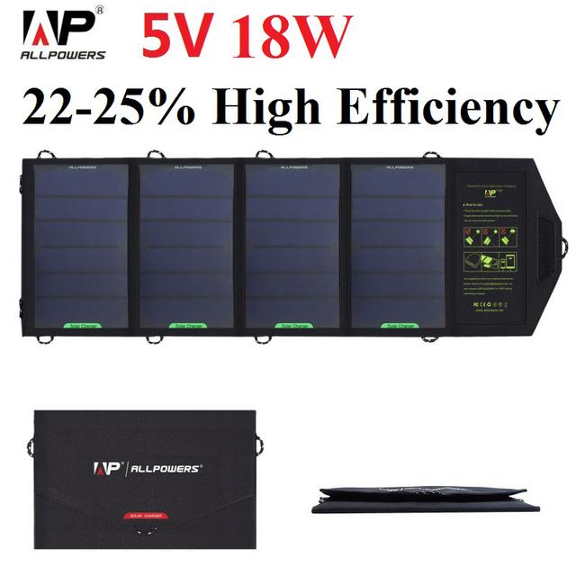 Allpowers solar phone charger 18 watt 5 série tensão painel solar carregador solar para iphone ipad samsung htc, Tablet PC e Muito Mais.