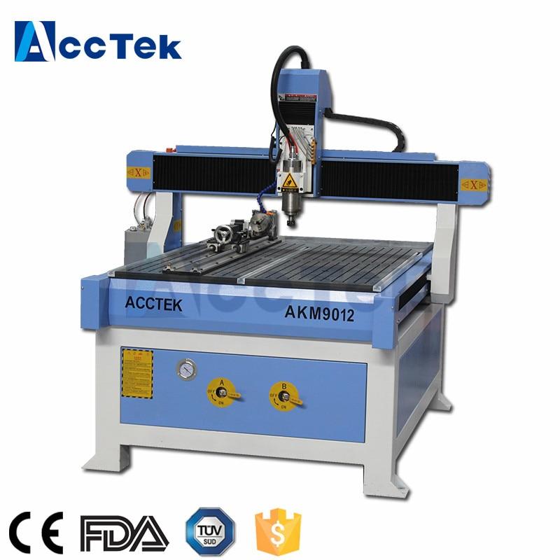 Jinan Acctek Cnc Machine 6090 9012 Ball Screw Transmission Cnc Carving Wood Machine
