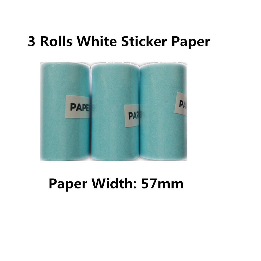 3 rolls sticker paper 58mm 3.5 meters long