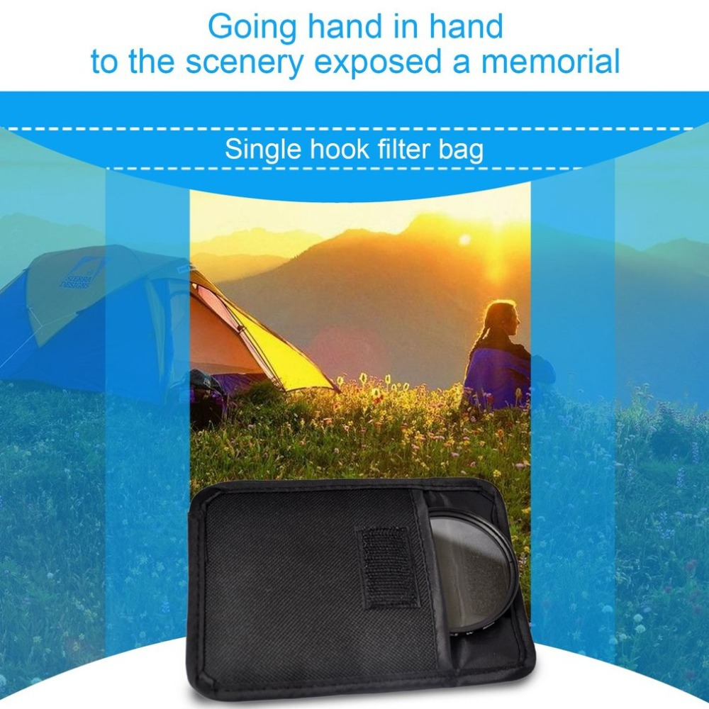 Filter Bag Camera UV CPL Lens Filter Case Protective Storage Case For Circular Filter Pouch Waterproof Shockproof Holder