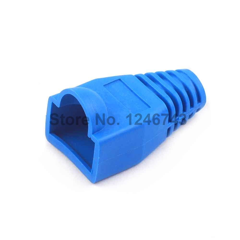 50pcs Rj45 Connector Caps Cat5 Cat5e Cat6 Multicolour Sheath Wiring Socket Protective Sleeve For Network Connectors Ethernet Cable Blue In From Lights