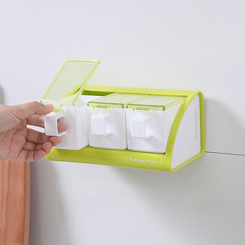 050 Multi function No mark plaster kitchen capacity Wall mounted spoon flavoring box seasoning box in Bottles Jars Boxes from Home Garden