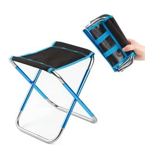 Image 2 - 7075 Al silla plegable portátil asiento de playa ligero 280g oso 100kg pesca Al aire libre muebles vocacion Casual Camping pesca