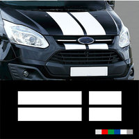 YONGXUN For Ford Bs229 Custom Transit Silver Cap Racing Stripes Decal Sticker Graphics Car Styling Accessories