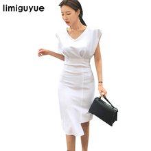 8f79ad3c43 limiguyue korean japan wear to work business office dress women solid  pencil bandage bodycon dress elegant