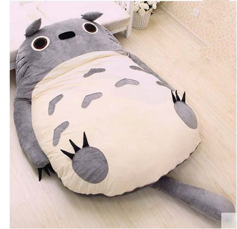 Anime Bean Bag Chair Office Neck Support Attachment Japan Totoro Sleeping Soft Plush Large Cartoon Bed Tatami Beanbag Mattress 4 Sizes Free Shipping In Stuffed Animals From Toys Hobbies On