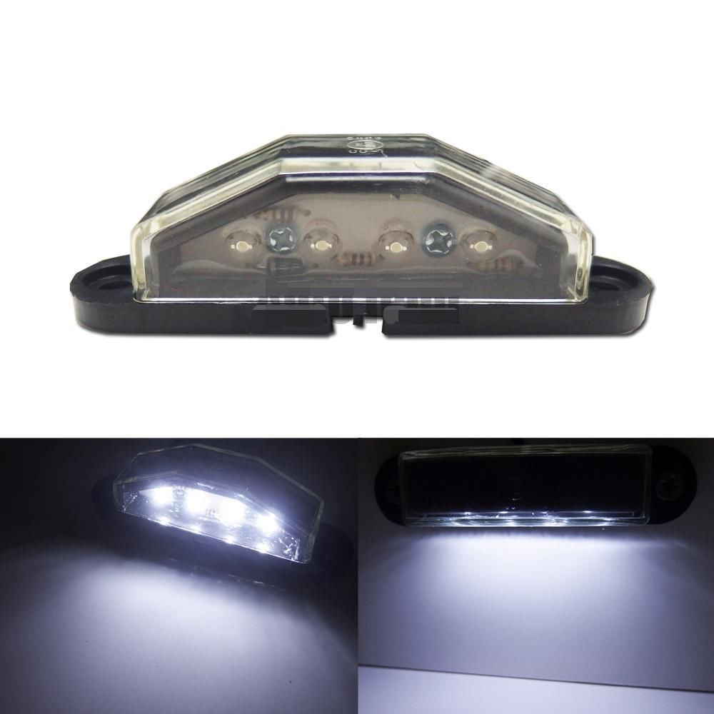 CYAN SOIL BAY One Piece HID White 4-LED License Plate Light Lamp For Truck Pickup Cars Trailer 1pcs 12v 24v truck license plate light white