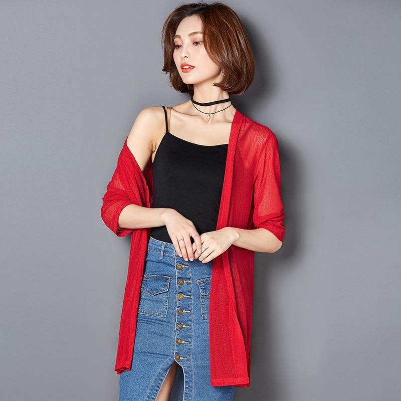 Women's Clothing 2019 High Quality Summer Kimono Cardigan Women Tops Blouses Shirts Chiffon Sunscreen Shirts Loose Clothes Blusas Cardigan Shawl
