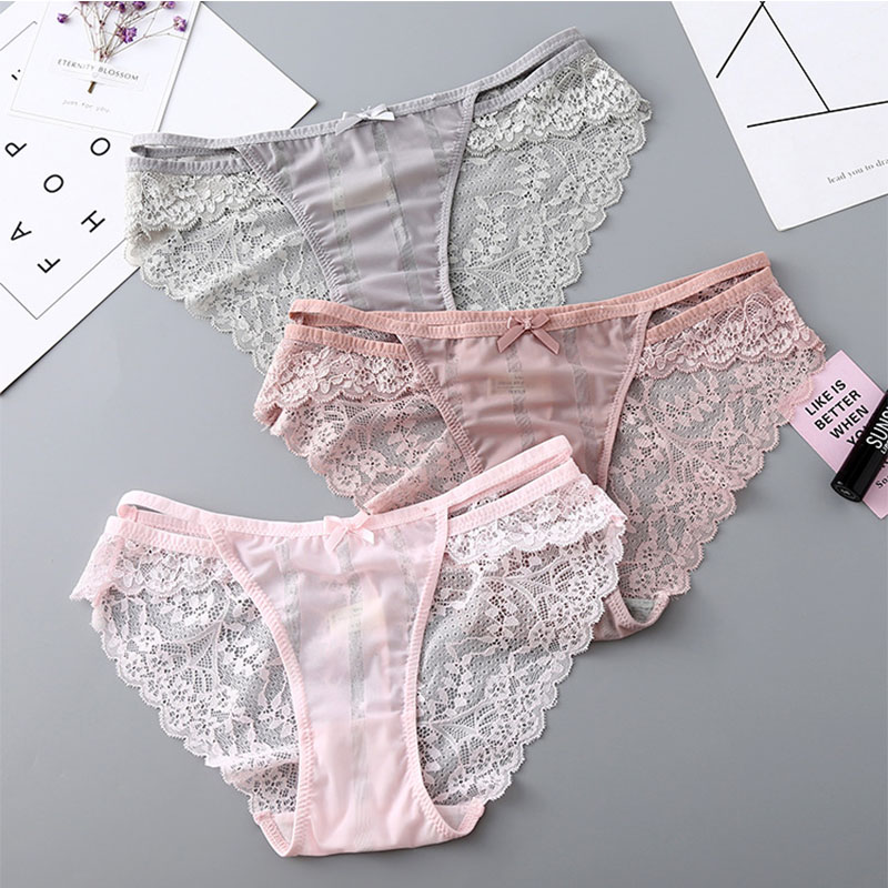 BEFORW Women Panties Ultra-thin Hollow Underwear Women Low Rise Transparent Lace Sexy Pa ...