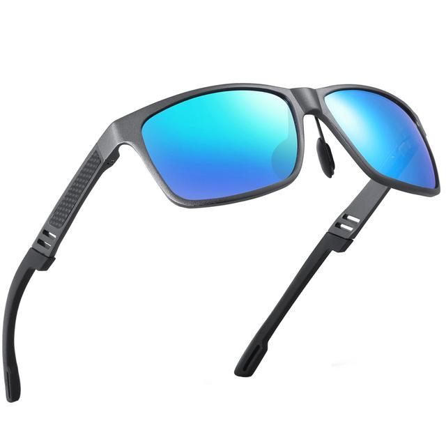 2016 Novos Homens de Alumínio Espelho Polarizada Óculos De Sol Do Esporte Óculos de Sol Da Moda UV400 Óculos de Reduzir O Brilho Óculos de Condução Ao Ar Livre