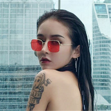 ASUOP new fashion ladies sunglasses classic luxury brand design square mens glasses metal frame retro UV400 pilot goggles