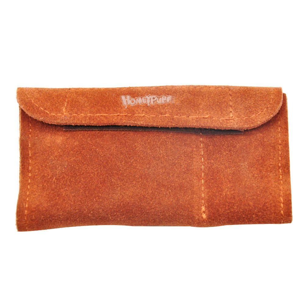 Draagbare 100% Echt Leer Tabak Pouch Bag + Snuff BulletSnorter Tool Sniffer Straw Hooter Hoover Bag Pijp Case Pocket