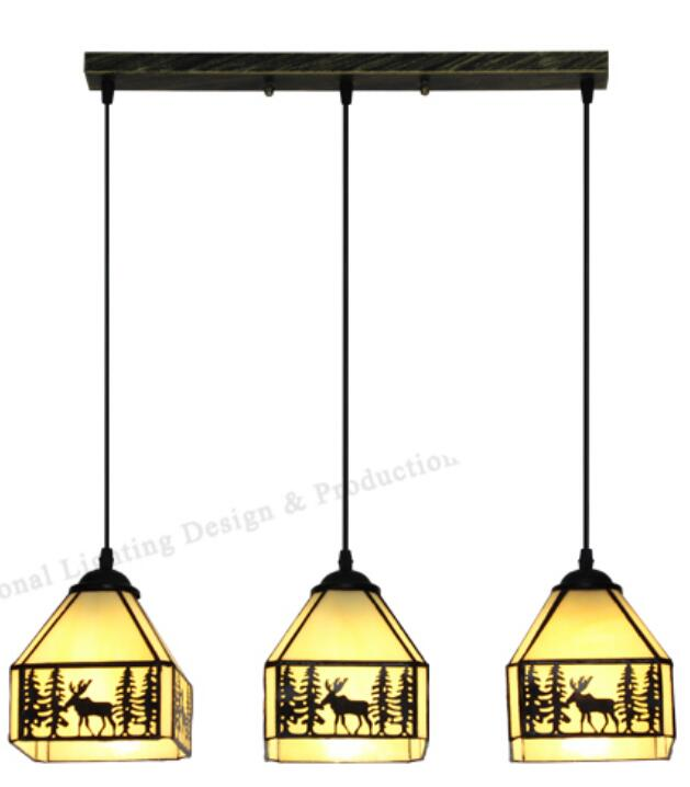 European countryside pendant light simple study bar creative Tiffany Mediterranean Restaurant tiffany restaurant in front of the hotel cafe bar small aisle entrance hall creative pendant light mediterranean df66