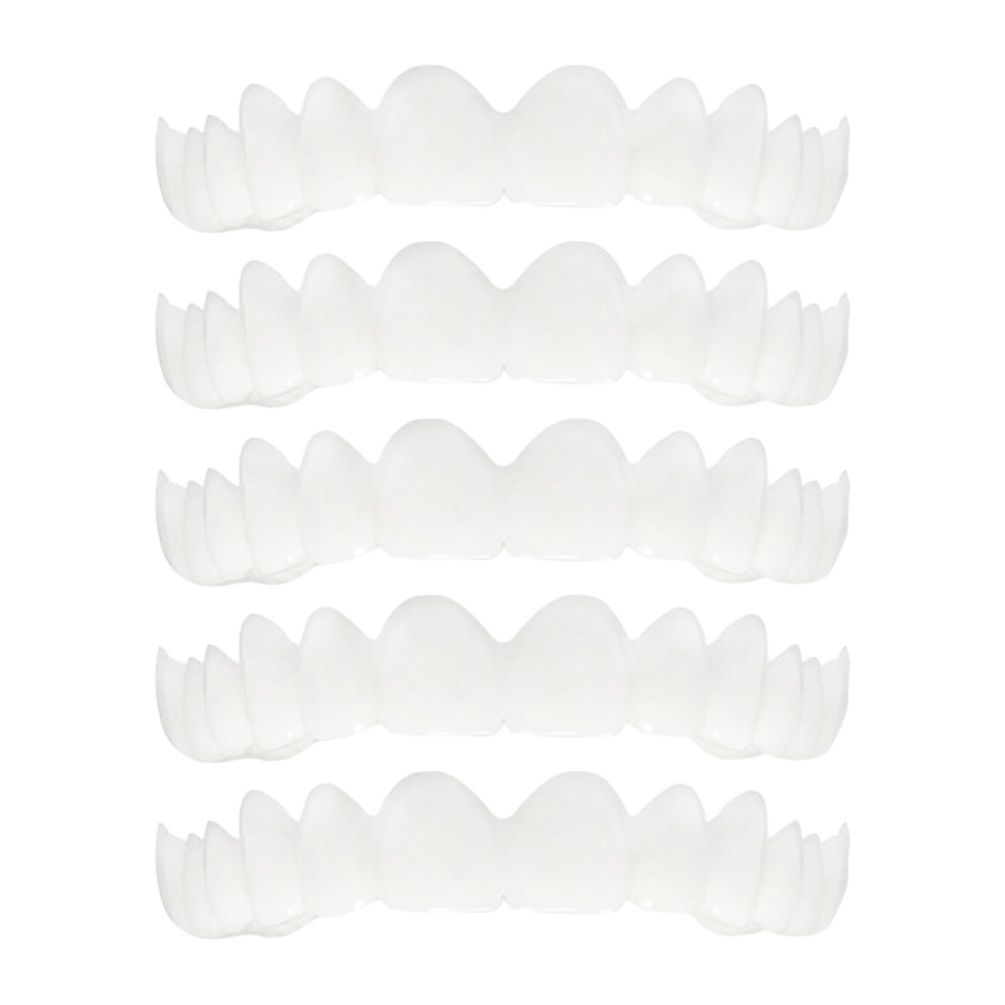 Image 2 - 5pcs Fit Dentes White Cover Denture Teeth Top Cosmetic bleaching Yellow Teeth Whitening Temporary Smile Comfort-in Teeth Whitening from Beauty & Health