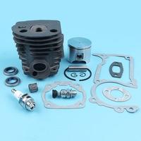46mm Nikasil Cylinder Piston Kit For HUSQVARNA 55 51 Chainsaw #503609172 Oil Seals Gaskets Decompression Valve