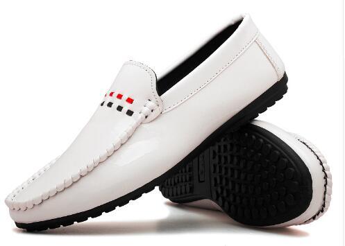 Glissement Mocassins Beige Lumière Arrivée Respirant Couleur Nouvelle bleu noir Homme Casual Sur Conduite Chaussures Souple Poids Man001 Pour Cuir Tosjc Blanc 1wvFxqU1