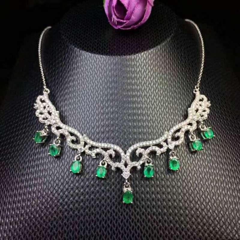 1f7dab4cf098 Compra heart emerald necklace y disfruta del envío gratuito en  AliExpress.com