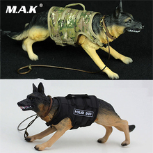 1/6 Working Dog Model 1/6 German shepherd police dog model for 12 inches Action Figure Accessories Collections 1 6 4d germany mp7 submachine gun model diy assemble models for 12 inches action figures collections