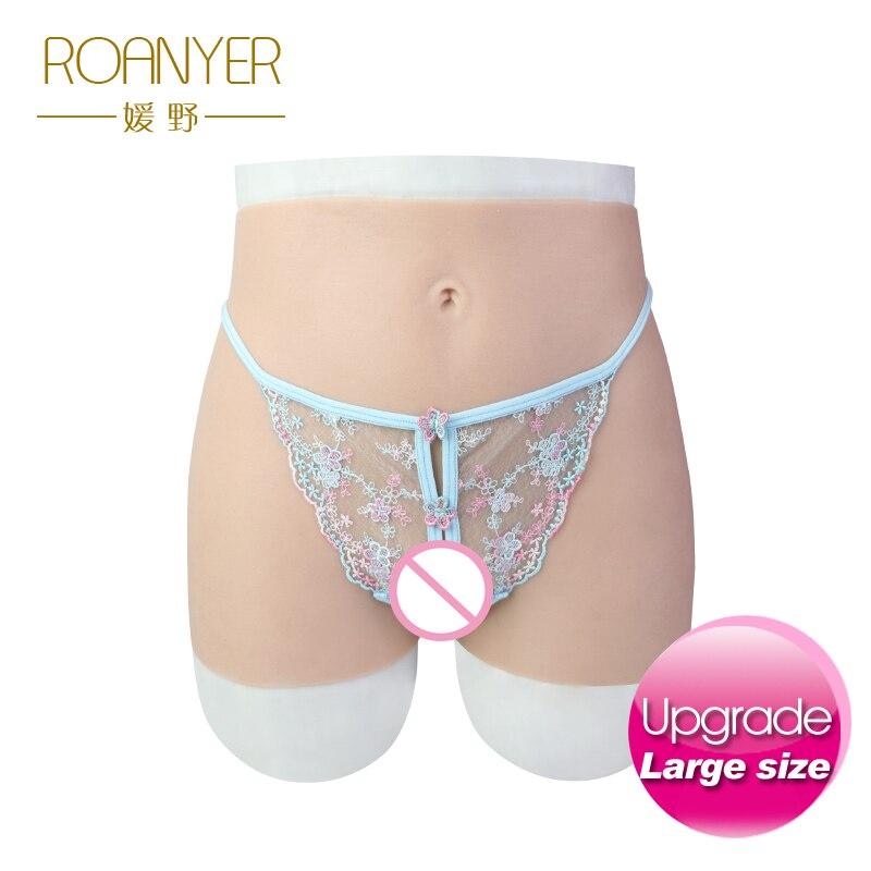 Roanyer большой брюки с проникающей поддельные влагалище искусственные реалистичные силиконовые нижнее бельё для девочек подходит crossdress