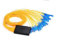 1*32 catv 광섬유 plc 분배기 피그 테일, ftth 용 sc/apc 커넥터가있는 단일 모드