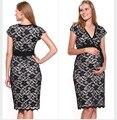 Весна лето новый беременная женщина беременным платье одежды одежда темперамент полный манжета ротатора большие ярдов беременным платье