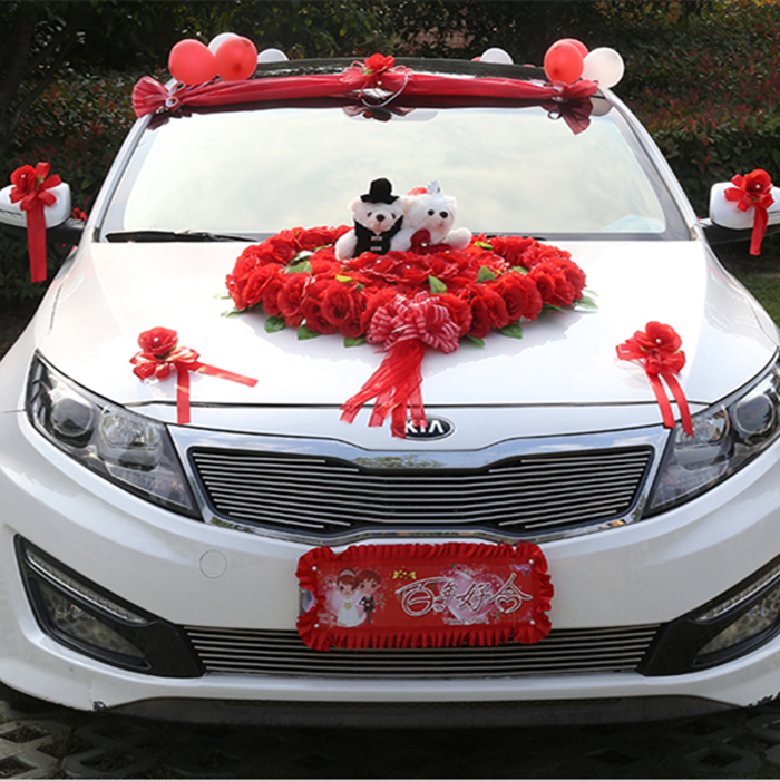 Buy wedding car decoration flower bridal for Automotive decoration