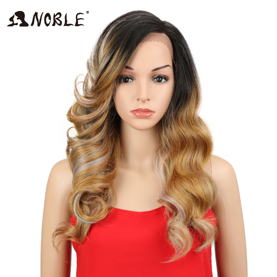 Noble Hair 24Inch Long Loose Wave Ombre Glueless Heat Resistant Wig - Syntetiskt hår