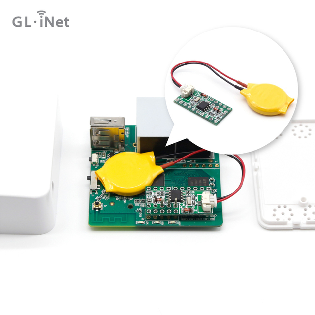 US $7 98 |DIY DS1307 RTC Module Real Time Clock Modules with CR2032 Lithium  Battery for GL iNet GL AR150 Wireless Mini WiFi Router-in Networking Tools