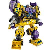 Transformation Toys Oversize 6 in 1 NBK GT Devastator KO boy Cool Bulldozer Gravity Hook Green Yellow Action Figure kid Toy gift