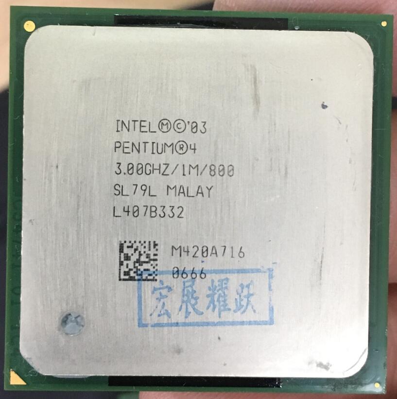 Intel Pentium 4 PC computer P4 3.00GHZ 1M 800 P4 3.0GHZ P4 3.0 3.0G 3.00G 3.0E CPU Desktop processor Socket 478 SL79L CO