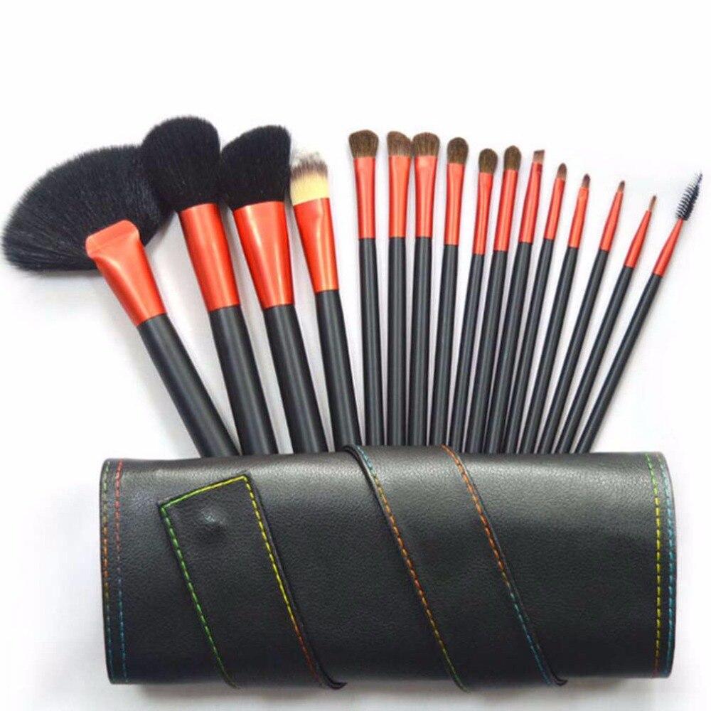 Make Up 16Pcs Makeup Tool Kits Foundation Brush Set Professional Animal Hair Makeup Brush Set With Brush Bag Hot New