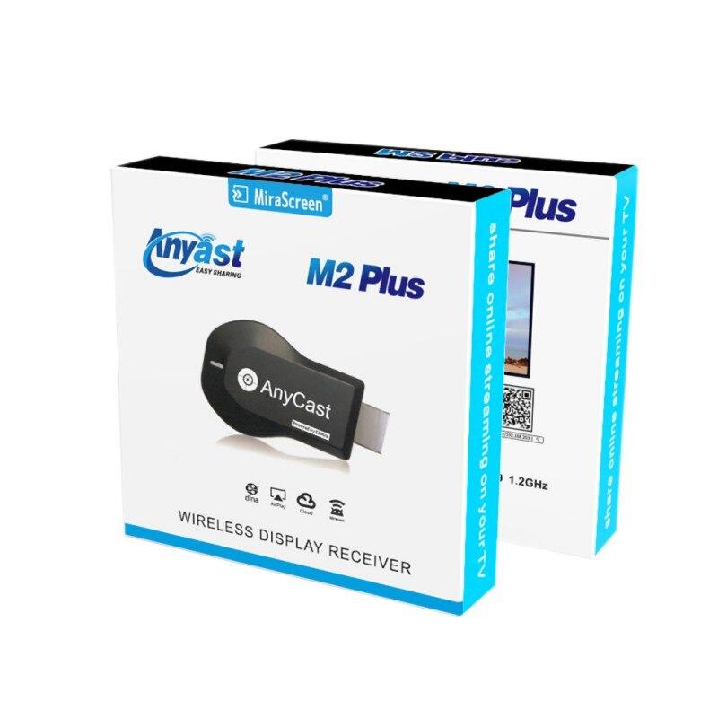 AnyCast M2 Plus Sem Fio WiFi Exibição Dongle Receptor Airplay HDMI TV Vara com a Inicial do Google Chrome Acordo para Netflix etc.