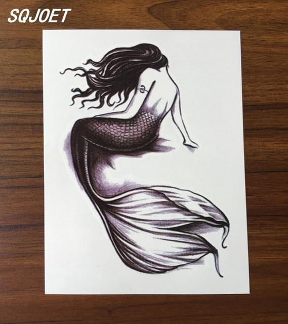 korper kunst schonheit make up sexy meerjungfrau tattoo 3d wasserdicht temporare tatowierung aufkleber
