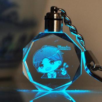 Брелок светодиодный кристалл к-поп BTS в ассортименте 1