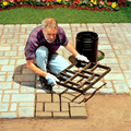 45*40*4cm BIG Garden DIY Plastic Path Maker Mold Road Paving Cement Mould Brick decor path stepping step stone maker square mold