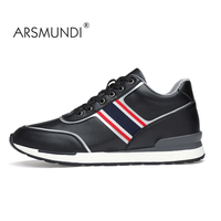 ARSMUNDI Brand New Leather Men S Sport Skateboarding Shoes Popular Waterproof Comfortable White Black Sneakers For