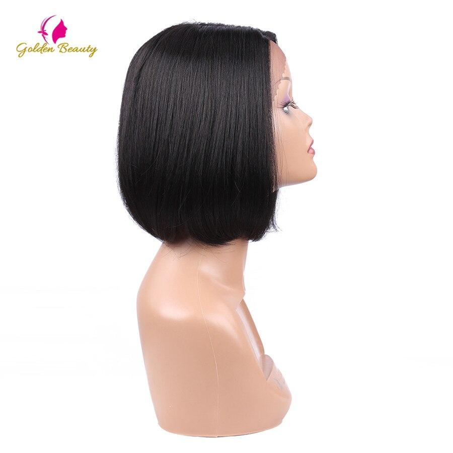 Golden Beauty 8inch Bob Cut Wig Kort Syntetisk Snörning Frontparykar - Syntetiskt hår - Foto 4