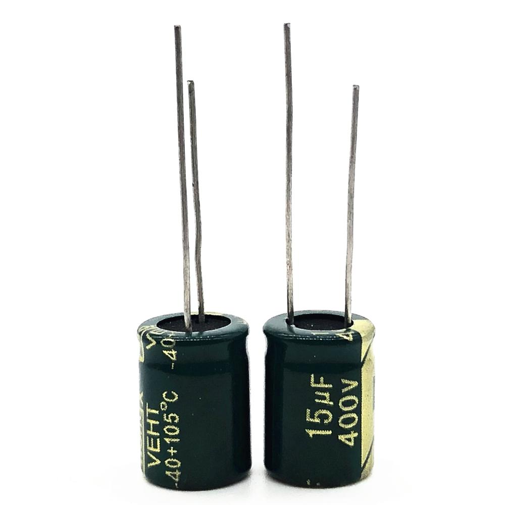 12pcs/lot 400V 15UF High Frequency Low Impedance 20% RADIAL Aluminum Electrolytic Capacitor 15000NF 20%