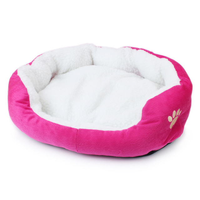 Candy Color Soft Cotton Cat Dog Bed Winter Warm Teddy Cat House Kitten Cat Sofa Bed Pet House Mat for Small Medium Dog Cat 5