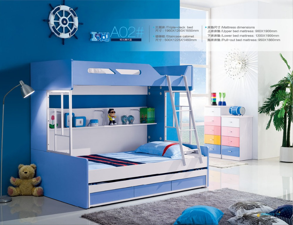 Luxury Baby Beds Bunk Beds Camas Childrens With Stairs Top Fashion Hot Sale Wood Kindergarten Furniture Kids Bed Lit Enfant