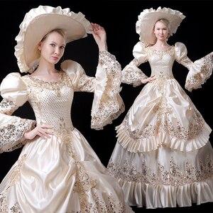 Marie платье Антуанетты платье, в стиле рококо барокко Маскарад исторический костюм 18th века викторианской кринолин свадебные мяч и свадебное ...