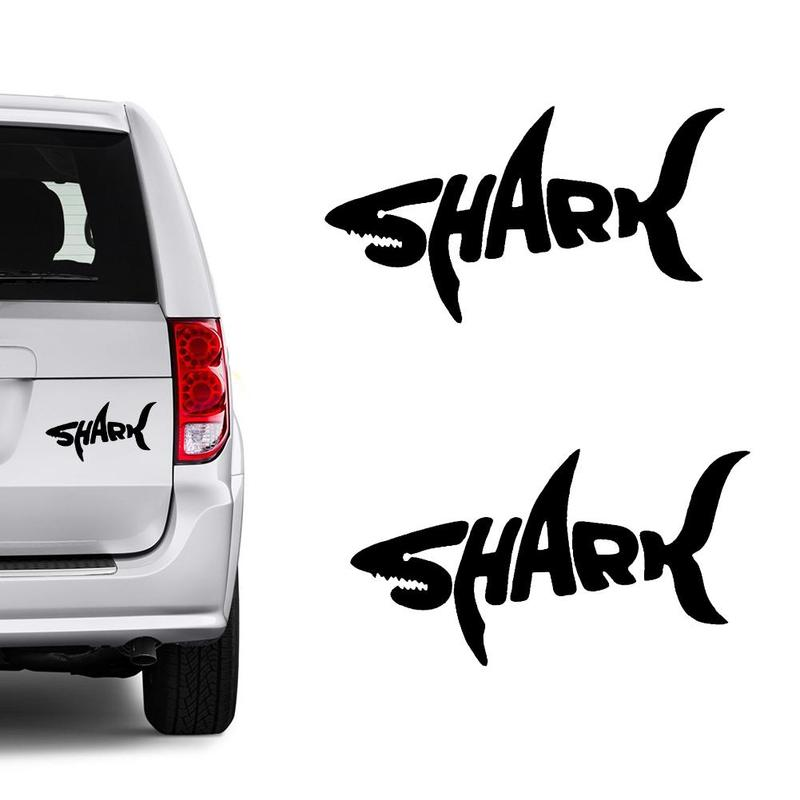 Hot Sale Cool Graphics Car Styling Letter Personality Shark Stickers Cover Scratches VinylCar Sticker MCT0899