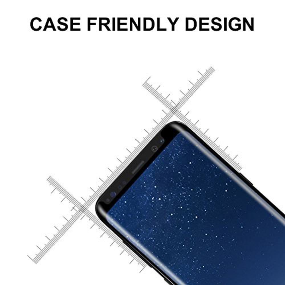 JGKK Case Fit 3D Curved Glass For Samsung Galaxy S8 S9 Plus Tempered Glass Case Friendly Screen Protector For S8 plus S9 Shield in Phone Screen Protectors from Cellphones Telecommunications