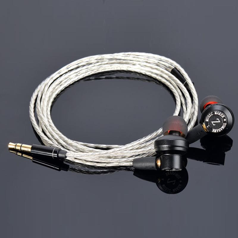 Original TONEKING IN EAR Metal Earphone Tomahawk earphones HIFI Bass headset with MMCX silver cable for shure se215 se535 Earbud hangrui xba 6in1 1dd 2ba earphone hybrid 3 drive unit in ear headset diy dj hifi earphones with mmcx interface earbud for phones